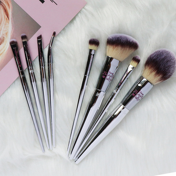 Professional 8/9pcs Makeup Brushes Set Live Beauty Fully Silver IT Cosmetic Brush Kit Face Eyes Makeup Tool Collection 2