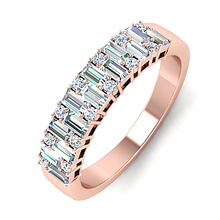 USTAR Elegant finger rings for Women Rose gold Color Wedding Engagement ring female Full cubic zirconia fashion Jewelry anel 2020 fashion design cubic zirconia rings for women rose gold silver color round crystal ring female anel party statement jewelry