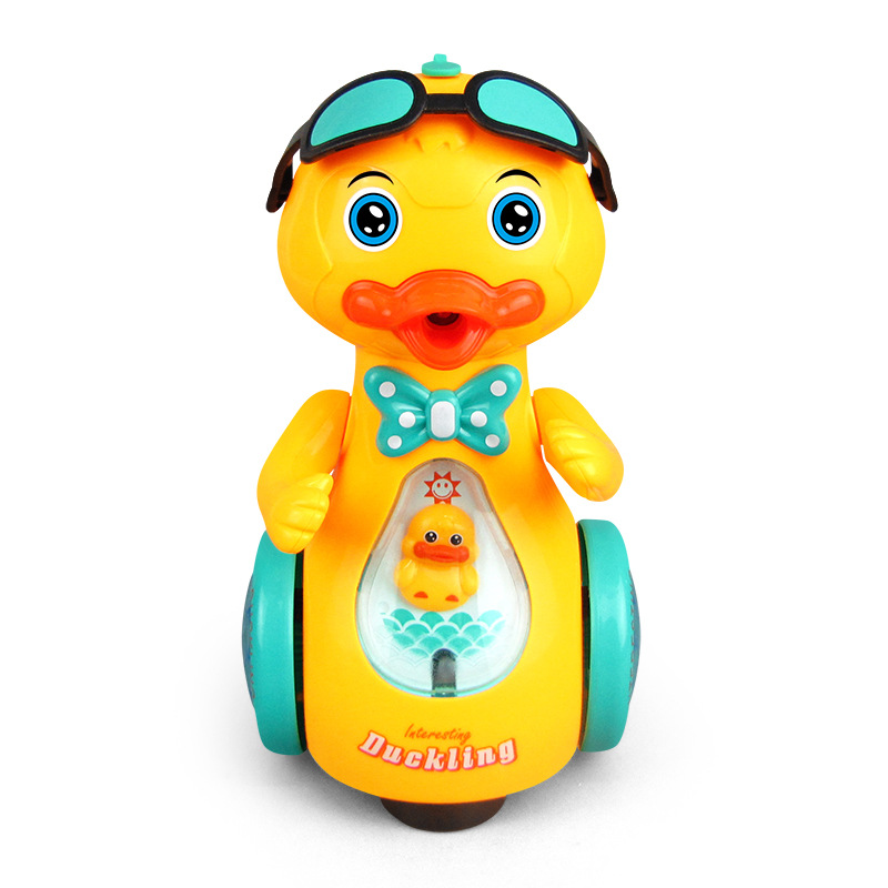 2020 Spray Electric Yellow Walking Duck Music Lighting Simulation Animal Duck Child Intelligence Baby Spraying Water Bath