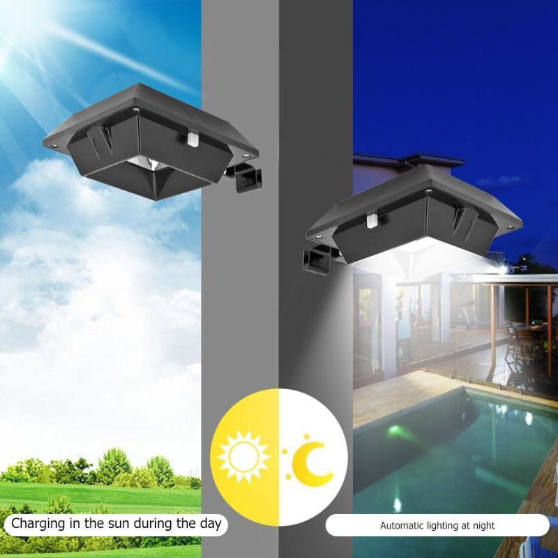 6LED Solar Lights Waterproof Outdoor Motion Sensor Garden Path Wall Lamp