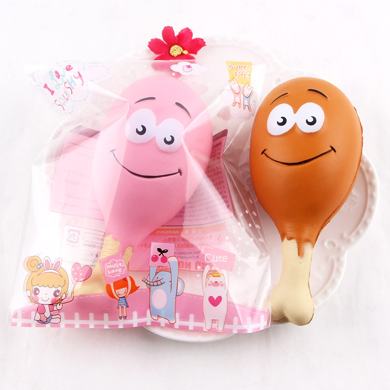 Simulate Chicken Leg Squeeze And Play With Toys Drumsticks Scented Squeeze Slow Rising Fun Toy Relieve Stress Cure Gift L103