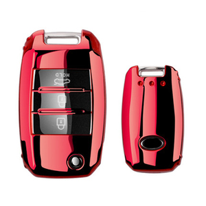 Image 2 - TPU Folding Car Key Cover Protection For KIA Sid Rio Soul Sportage Ceed Sorento CeratoK2 K3 K4 K5 Remote Case Protect Keychain