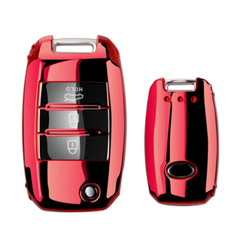 TPU Folding Car Key Cover Protection For KIA Sid Rio Soul Sportage Ceed Sorento CeratoK2 K3 K4 K5 Remote Case Protect Keychain