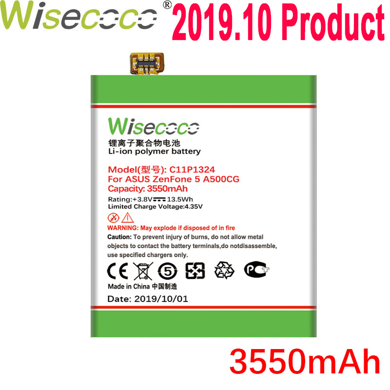 WISECOCO 3550mAh C11P1324 Battery For <font><b>ASUS</b></font> <font><b>ZenFone</b></font> <font><b>5</b></font> A500G Z5 A500 <font><b>A500CG</b></font> <font><b>A501CG</b></font> A500KL Mobile Phone With Tracking Number image