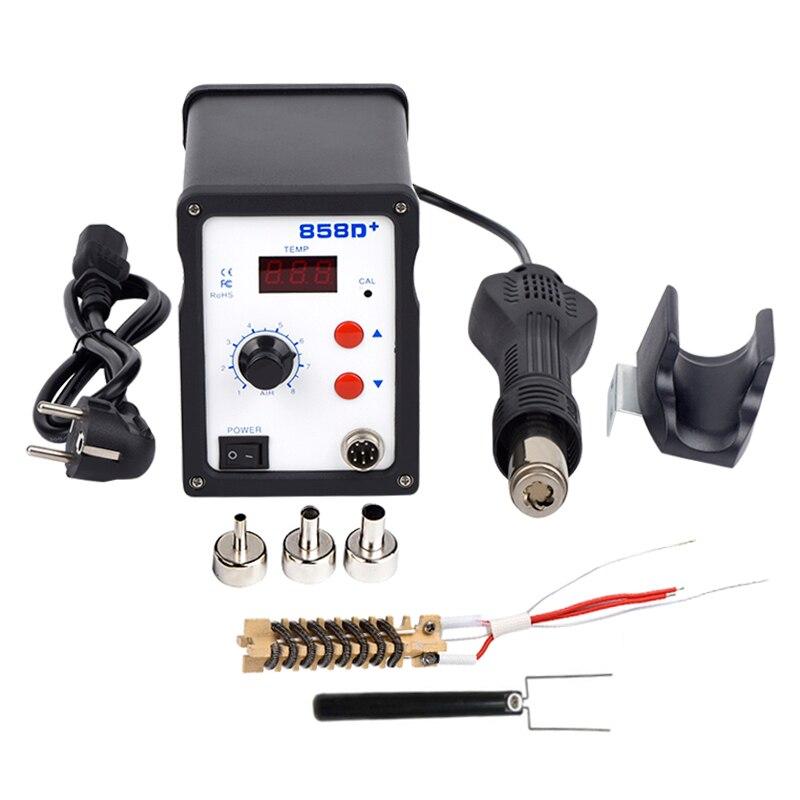 WMORE pistolet à air chaud 858D 700W BGA station de soudure à souder station de soudage SMD LED de soudage station numérique 220V 110V kit d'outils de réparation à souder