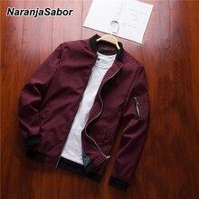 NaranjaSabor Spring New Men s Bomber Zipper Jacket Male Casual Streetwear Hip Hop Slim Fit Pilot