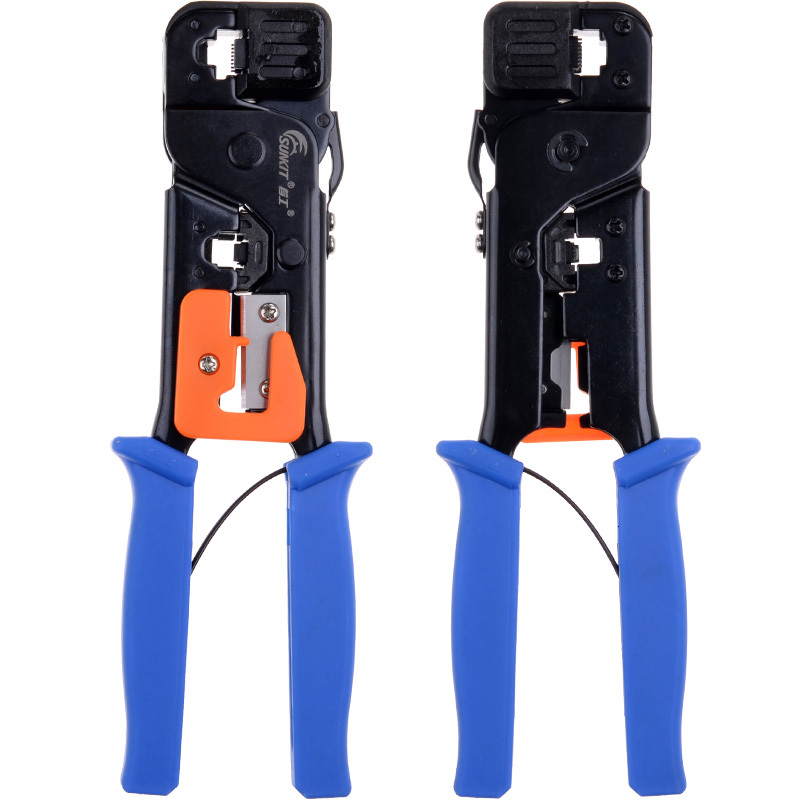Original Binding First Worker Sk-868g Cable Telephone Pliers Crystal Head Crimping Pliers Network Multi Pliers Function Double