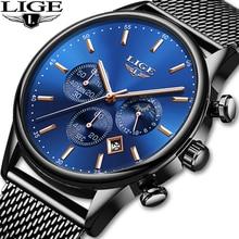 LIGE 2019 dropshipping Mens Watches Top Brand Luxury Waterproof Fashion Watch Quartz Watch Men Sport Chronograph reloj hombre