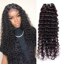 100% бразильские пряди волос IWISH с глубокой волной, пряди для наращивания, волнистые пряди человеческих волос без повреждений, 1 шт., 10-30 дюймов