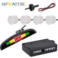 MFWNITBL Auto Parktronic Led Parking Sensor Kit Display 4 Sensors Reverse Assistance Backup Radar Monitor Detector System|Parking Sensors| |  -