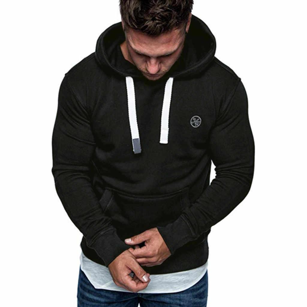스웨터 남성 뉴 후드 브랜드 남성 긴 소매 솔리드 까마귀 남성 블랙 침대 큰 크기 Poleron Hombre Sudaderas Hombre 4 색