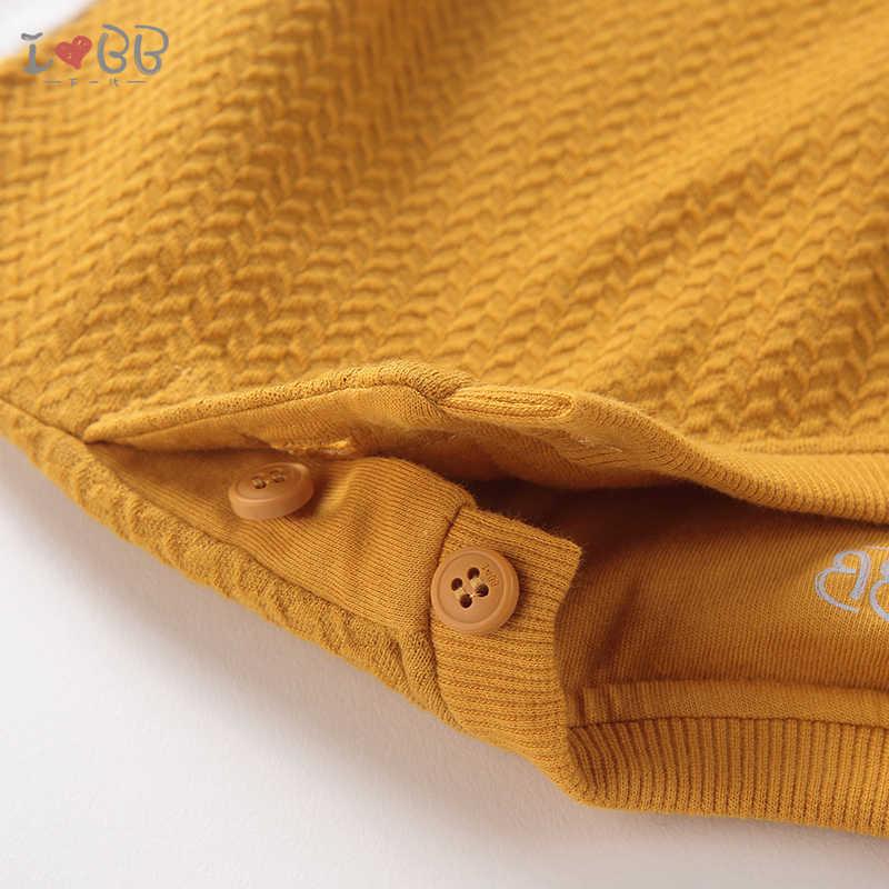 Camiseta de invierno amarillo cálido camisetas Top ropa de bebé niñas cuello redondo de algodón de manga larga de otoño