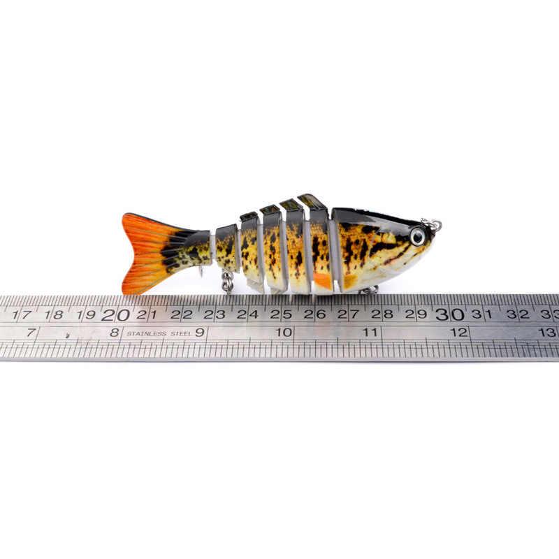 1 pçs naufrágio wobblers iscas de pesca multi articulado duro isca artificial pique/baixo isca de pesca