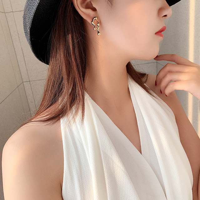 Asymmetric Earrings  Gold Silver Color  5