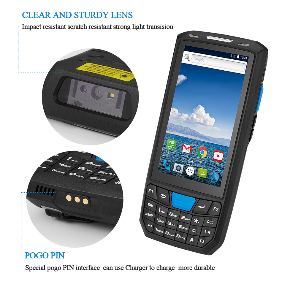Image 2 - New Android 8 PDA Rugged Handheld Terminal Data Collector Terminal Wireless 1D 2D QR Laser Barcode Scanner Reader Terminal 4G-in Scanners from Computer & Office