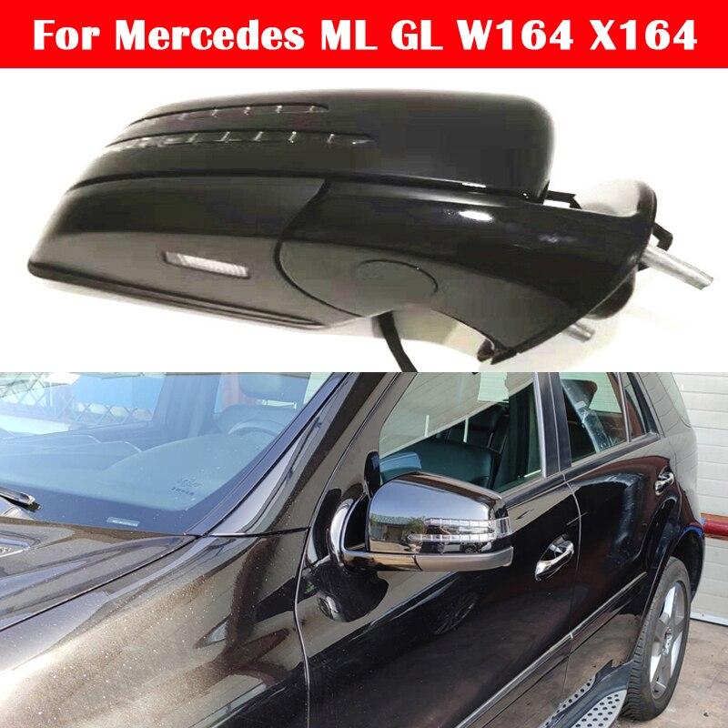 Mercedes ML için W164 GL ML350 ML300 ML500 GL450 GL320 GL350 GL550 araba dış dikiz aynası montaj X164