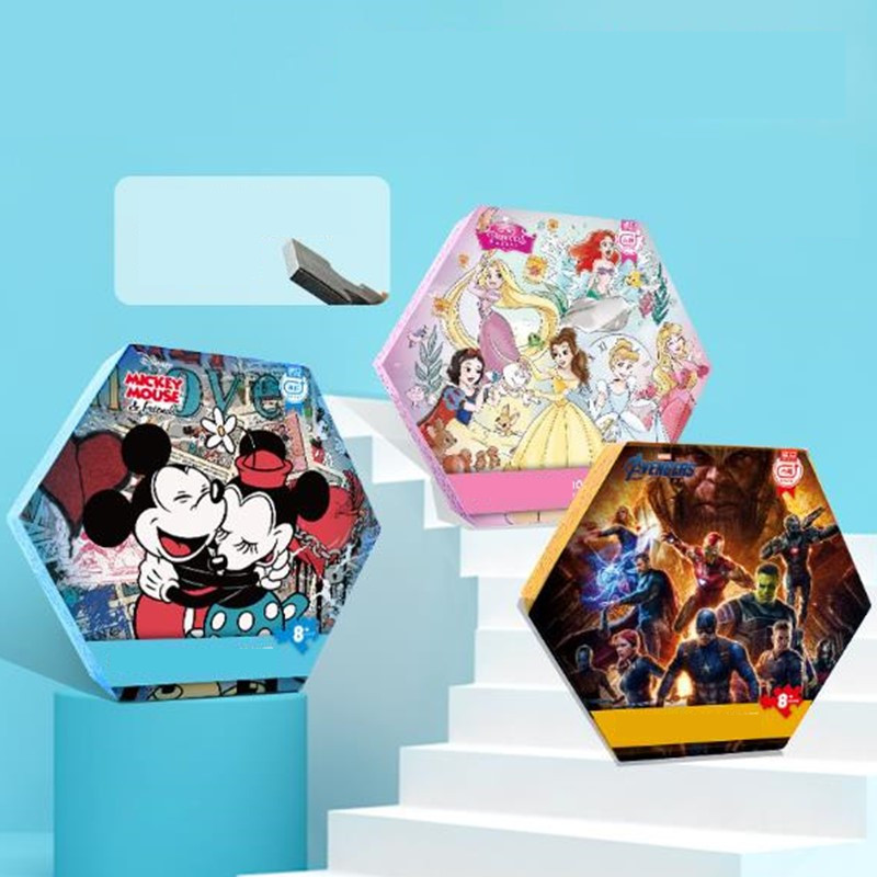 Disney Imported Blue Core Paper Adult Decompression 1000 Pieces Princess Mickey Marvel Puzzle Challenging Adult Puzzles