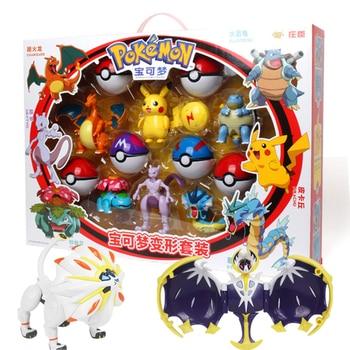 Original Pokemon figures Toy charizard solgaleo Pikachu Action Figure  Ball Model Anime For Kids Gift
