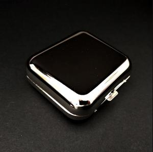 Image 5 - New Arrival Smallsweet Stainless Steel Square Pocket Ashtray metal Ash Tray Pocket Ashtrays With Lids Portable Ashtray