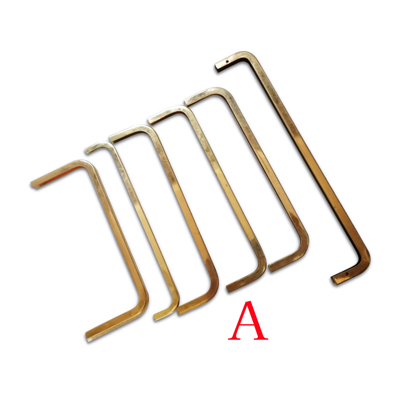 6Pcs Metal Corner Screws Clip Edges Protector Gold Color Purse Decoration Corners DIY Leather Crafts Accessories