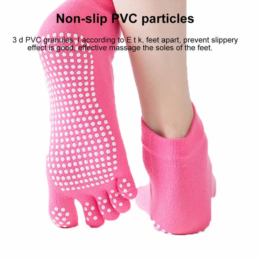 女性は抗スリップファイブ指背中ノンスリップ 5 ソックスバレエジムフィットネススポーツ綿靴下通気性