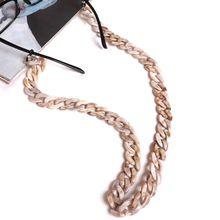 Acrylic Eyeglass Chain Anti-slip Eyewear Cord Holder Neck Strap Reading Glasses Rope Unisex original uk fraser anti static cord rope length 10 meters 850 10
