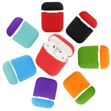 Ultra-slim Shockproof Solid Color Silicone Protectoring Case Cover for AirPods 2  Hot Sale