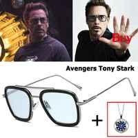LVVKEE De moda caliente vengadores araña Hombre De Hierro De Robert Downey jr. con gafas Tony Stark gafas De sol UV400 gafas De sol, gafas De sol