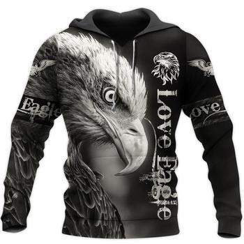 Love Eagle 3D Print Sweatshirt Hoodies Men and women Hip Hop Funny Autumn Streetwear Hoodies Sweatshirt For Couples Clothes benxsea 3d sweatshirt men women ramen noodle soup print sweatshirt funny pork chicken beef hip hop hooded sweatshirt