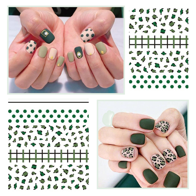 Nail Art 3D Stickers Flowers Stripe Shape Self-adhesive Transfer Decals Nails Design Nail Art Decoration For Polish Gel