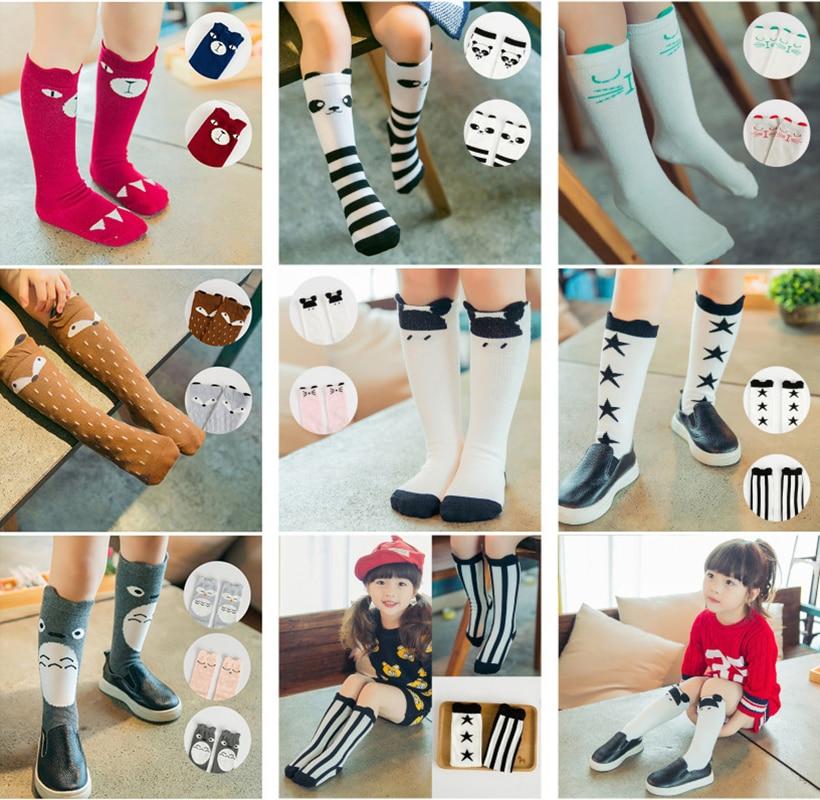 Cartoon Kids Socks Baby Boy Girls Cotton Socks Cute Knee High Long LegWarmers Lovely Animal Panda Fox Socks Children Socks 0-6 Y