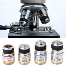 4X 10X 40X 100X Achromatic Objective Lens for Biological Microscope 185 Standard DIN achromatic objective lens