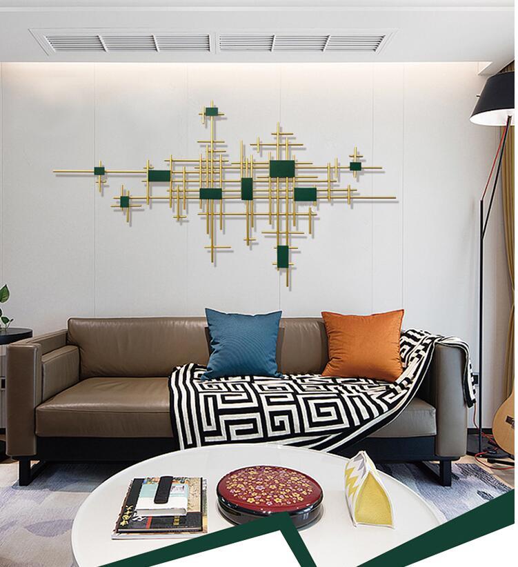 Europeu de ferro forjado decoração da parede pingente casa sala tv fundo parede pendurado artesanato hotel escritório adesivo murais