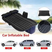 Coche cama de viaje cama de coche cama de aire cama de colchón inflable para asiento trasero de coche colchón multifuncional sofá almohada Camping al aire libre Cama de viaje de coche     -