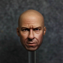 In Stock 1/6 Scale Collectible Male Figure Vin Diesel Head Sculpt Carved Accessory Model for 12'' Body 1 6 scale toy head sculpt donnie yen yip man 3 fit 12 hottoy figure toys in stock