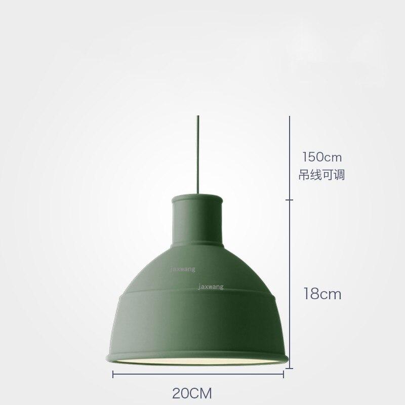 Новинка, подвесной светильник в скандинавском стиле, для столовой, макарон, s, смоляный светильник, светильники, кухонные подвесные лампы, подвесной светильник для гостиной, светодиодный, внутреннее освещение - Цвет корпуса: Green 20CM