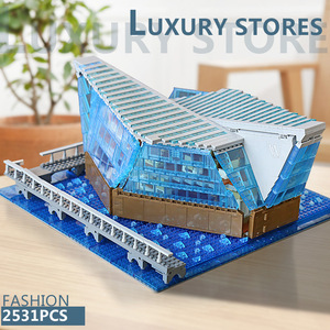 Image 4 - 601099 MOC Architecture Building Block The Singapore Boutique Clothing Jewelry Store WIth Led Part Assembly Brick Kids Toys Gift