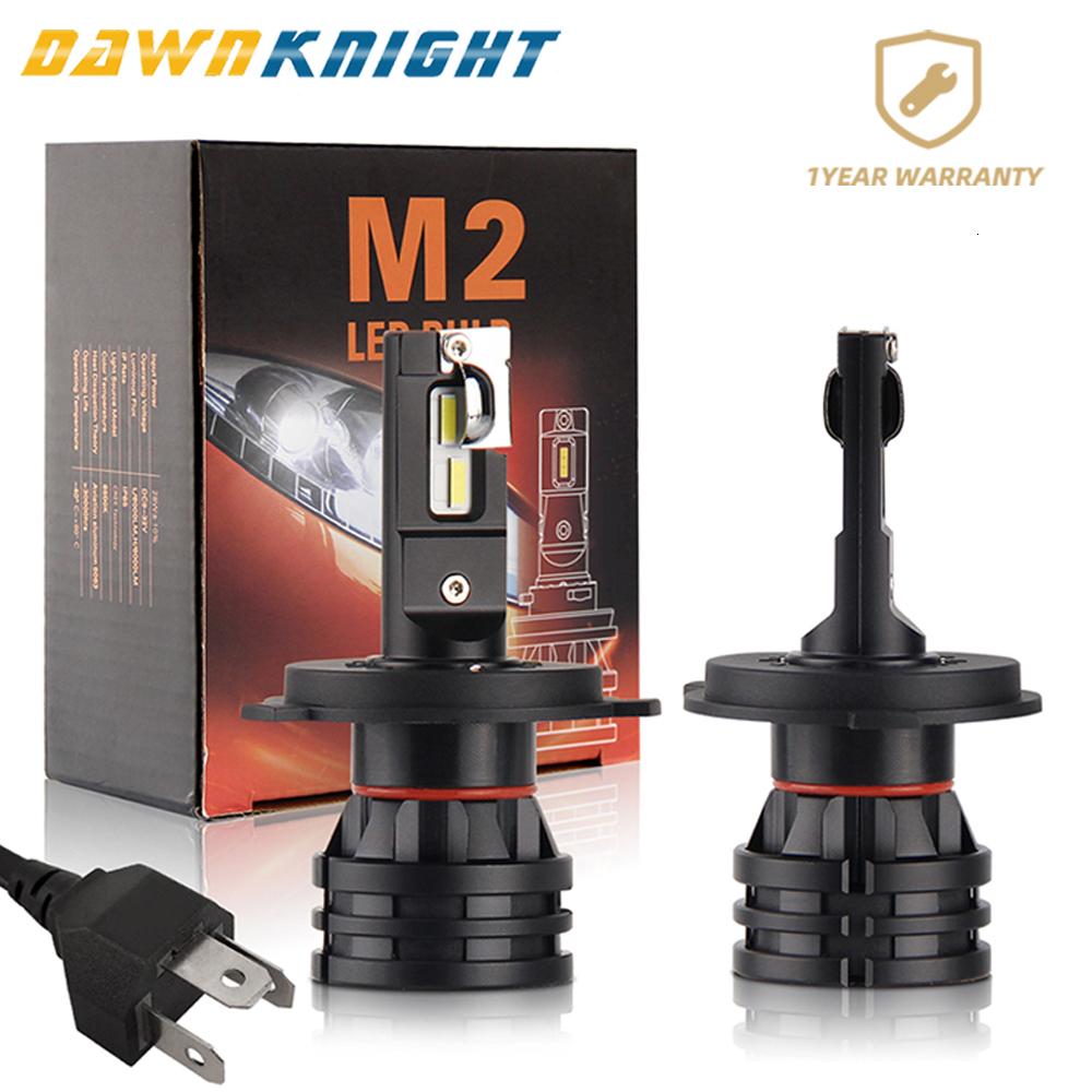 2PCS M2 Car Led Headlight H4 H7 H8 H9 H11 9005 Hb3 9006 Hb4 9012 Led Lamp  CSP CHIP Turbo Led 6500K 12000LM Mini Size 12V 24V