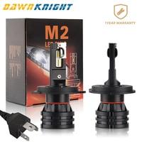 2PCS M2 Car Led Headlight H1 H3 H4 H7 H8 H9 H11 9005 Hb3 9006 Hb4 9012 Led Lamp CSP CHIP Turbo Led 6500K 12000LM Mini Size 12V