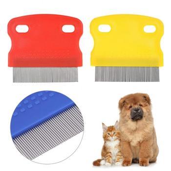 Chroń szczotka na pchły dla kotów psy domowe komfort ze stali nierdzewnej pchły pielęgnacja włosów narzędzia odrobaczanie szczotka krótkie długie narzędzia do sierści zwierząt domowych tanie i dobre opinie CN (pochodzenie) STAINLESS STEEL