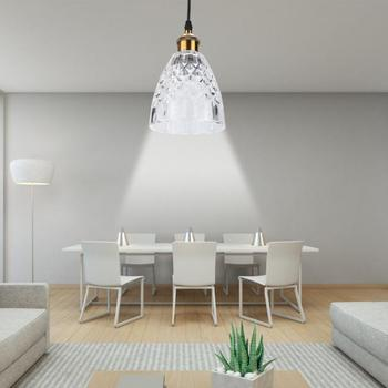 AC 100-240V LED Pendant Light E27 Base Glass Hanging Lamp For Cafe Bar Hallway Without Bulb