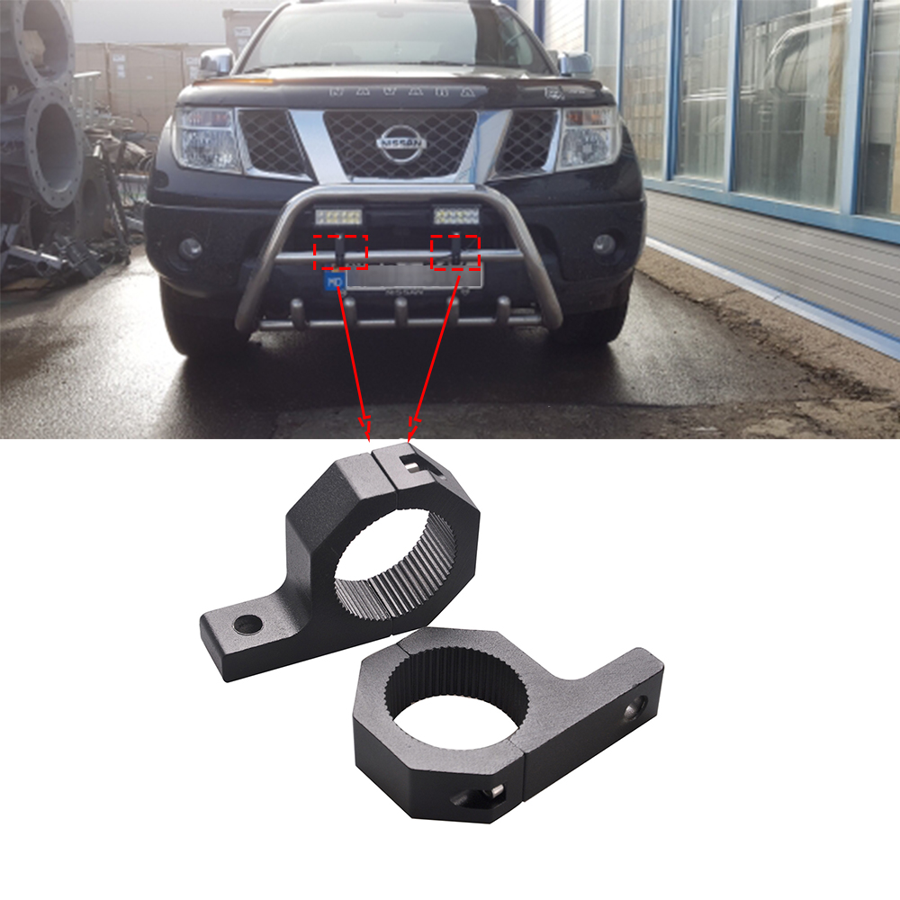 ECAHAYAKU 2pcs 32/52mm Car light mount Bull bar bumper lamp holder bracket Clamp stand Offroad Led driving head fog