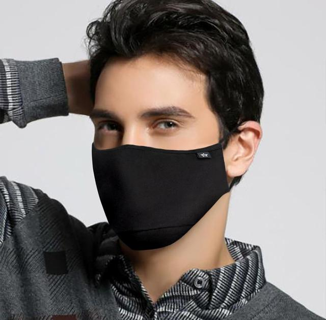 MEN WOMEN Fashion Cotton PM2.5 Anti haze smog mouth Dust Mask + * Activated carbon filter paper * bacteria proof Flu Face Mask 2