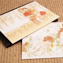 Романтическая свежая любовь в японском стиле, 12 шт., изысканная Классическая Ретро цветная открытка, подарок с очень плотной текстурой