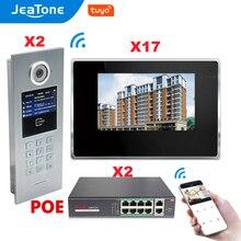 7% 27% 27 сенсорный экран WIFI IP видео дверь телефон домофон +% 2BPOE Switch 7 этажи здание доступ контроль система поддержка пароль% 2FIC карта