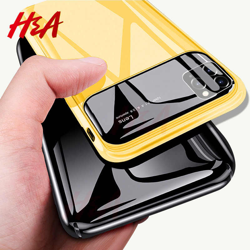 H&A Luxury Mirror Ultra-thin Phone Case For iPhone 11 Pro Max X Anti-knock Protective Hard PC & Glass X Xr Xs Max Fundas Capa