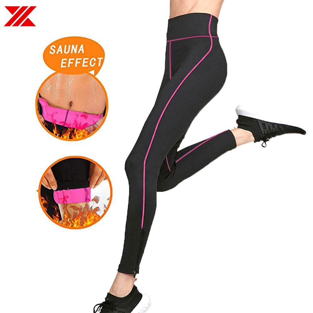 HEXIN Women's Slimming Pants Neoprene Body Shaper Sauna Sweat Workout for Weight Loss Fat Burning Stretchy Fabric Pants image