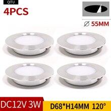Spot LED ultra sottile 3W incorporato piccola soffitto faretto da incasso 12V cucina bagno specchio fari Costruito in il riflettore