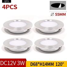 Spot lumineux encastrable ultramince, luminaire de plafond avec miroir, idéal pour une cuisine ou une salle de bain, 3W, 12V