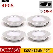 Spot led ultra-fino 3 w embutido pequeno projetor downlight teto 12 v cozinha espelho do banheiro faróis embutidos em holofotes
